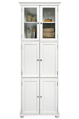 New Hampton Bay door Tall Storage Cabinet SIX DOOR WHITE