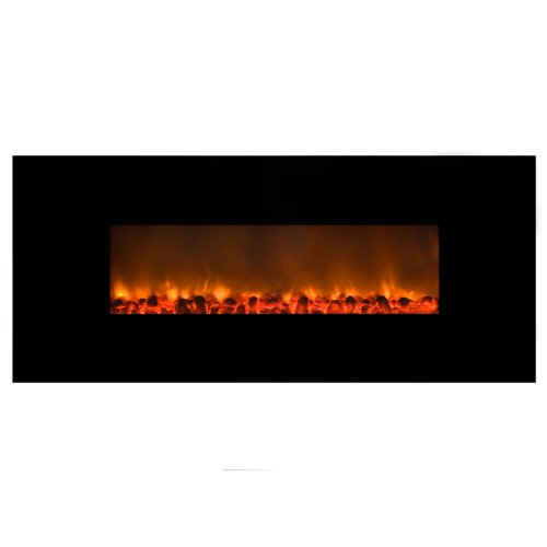 Yosemite Home Decor DF-EFP148 Wall Hung Electric Fireplace, Black