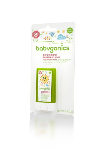 Babyganics Pure Mineral Sunscreen Stick SPF 50, 0.47-Ounce (Pack of 2), Packaging May Vary - 1