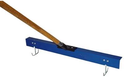 Bon 12-689 24-Inch Gauge Rake with Sleds and Wood Handle
