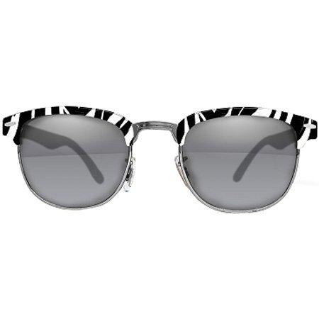 I Ski Brighton Classics Sports Sunglasses/Eyewear - Zebra Gunmetal/Smoke with Silver Mirror / One Size Fits All