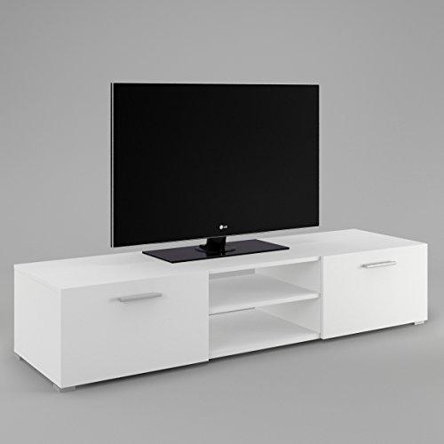 Labi-Mbel-TV1-TV-Lowboard-TV-unterschrank-LUNA-Wei-Matt