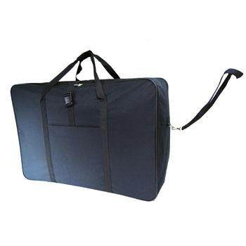 """36"""" Black Jazzi Super Lightweight Folding Suitcase Cargo Bag Holiday Travel 5 Wheeled Holdall by Jazzi"""