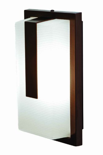 Access Lighting 20333Ledmg-Brz/Rfr Neptune   Led Light Wet Location Wall Fixture With Ribbed Frosted Glass Shade, Bronze Finish