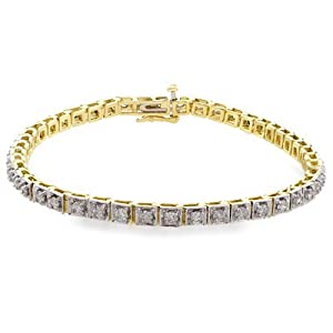 2 Carat Diamond 14K Straight Line Link Bracelet (2ctw, I-J, I2-I3)