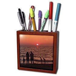 Florene Sunset - Vacation - Tile Pen Holders-5 inch tile pen holder