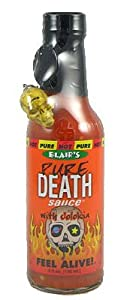 Blairs Pure Death Hot Sauce With Jolokia Ghost Pepper And Skull Key Chain - 5 Oz from Blair's