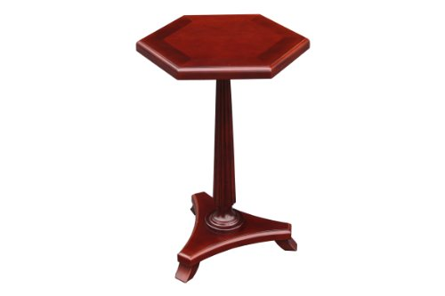Image of Asheville Plant Stand Accent Side End Table, Cherry Finish (A-1006)