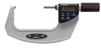 Mitutoyo Quickmike Coolant Proof LCD Micrometer, IP54, Friction Thimble, Inch/Metric