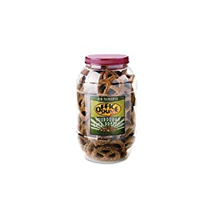 Giant Dutch Twist Sourdough Pretzels - Salted Sourdough, 40oz Plastic Canister(sold in packs of 3)