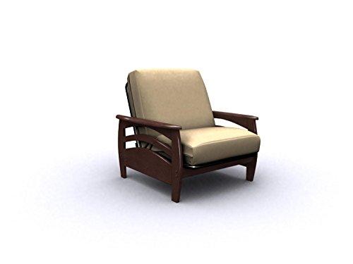 American Furniture Alliance Montego Metal/Wood Frame Junior Twin Chair, Walnut front-1027144
