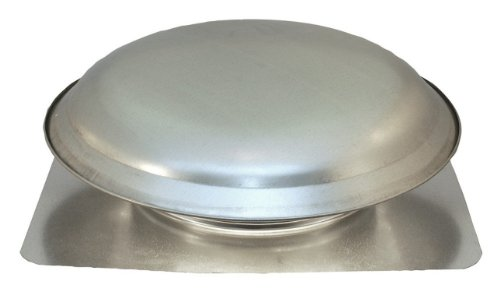 Cool Attic CX3000EEAM Power Roof Galvanized Steel Vent Dome with 2.1 Amp Energy Efficient PSC Motor, Mill