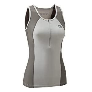 Tenn-Outdoors Women's Triathlon Singlet - Grey, 32-34.5 Inch