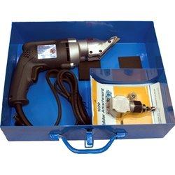 Kett Metal Shears 18 Gauge - Case and Nibbler Attachment Kit #210