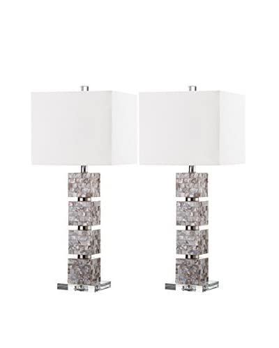 Safavieh Set of 2 Rafferty Table Lamps, White/Cream