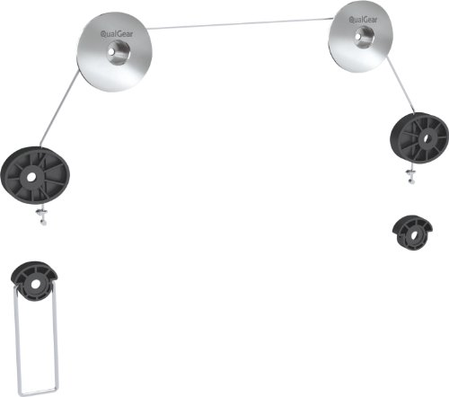 Qualgear Qg-Tm-001 37-Inch To 70-Inch Universal Ultra Slim Low Profile Picture Hanging Style Wire Rope Wall Mount Led Tvs, Stainless Steel