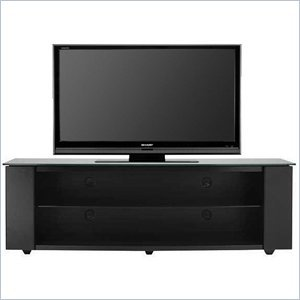 "Cheap Sanus Sanus Platinum 60″"" Glass Top Plasma/LCD TV Stand in Black (PFV60-B1)"