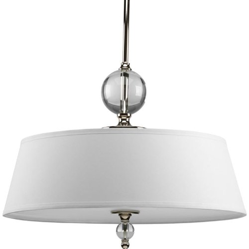 Progress Lighting P5034-104 Fortune Collection 3-Light Pendant, Polished Nickel