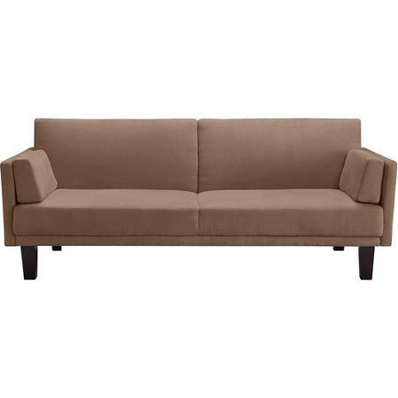 Metro Microfiber Futon Sofa Bed, Tan