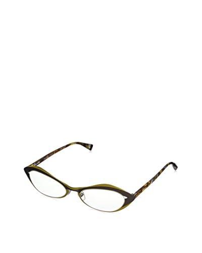 Alain Mikli Women's A01114 Eyeglasses, Light Walnut/Golden Yellow
