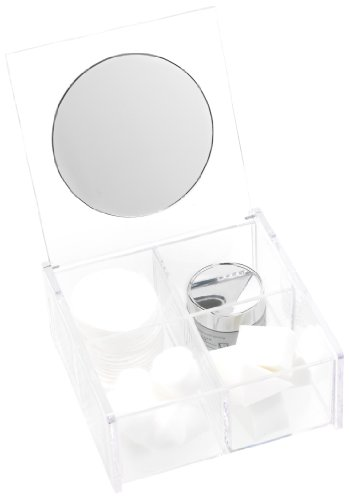 Danielle Acrylic Beauty Organizer With Mirror