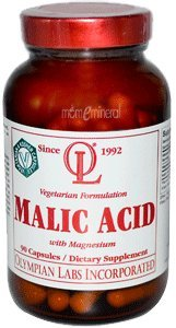 Olympian Labs Malic Acid with Magnesium - 90 Vegetarian Capsules - HSG-381723