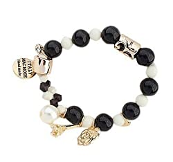 Sorella'z Pearls Rose Heart Effiltower Bracelet for Women's