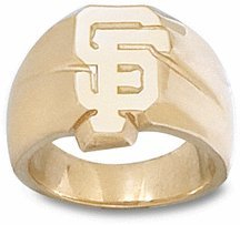 San Francisco Giants SF 5 8 Mens Ring Size 11 - 14KT Gold Jewelry by Logo Art