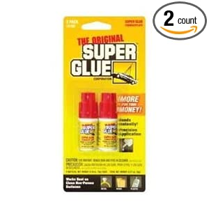Amazon.com: The Original Super Glue Cyanoacrylate, 0.10 Oz each, 2