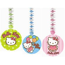 Hello Kitty Balloon Dangling Cutouts Package of 3