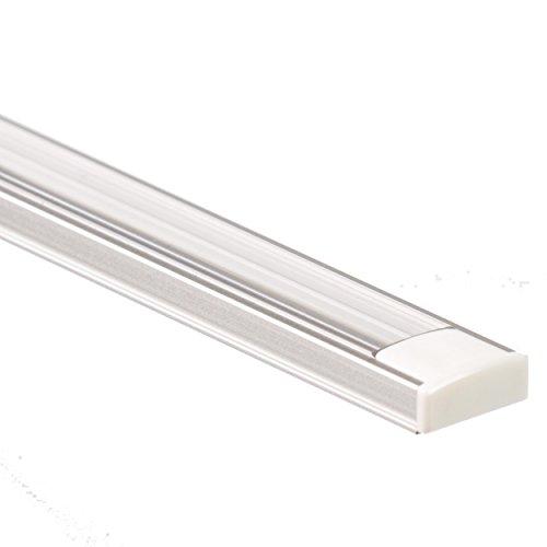 Profilo LED in alluminio ANSER 2 metri Barra per Strisce LED + Copertura trasparente