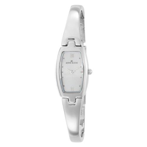 AK Anne Klein Women's 106739SVSV Silver-Tone Dress Bangle Watch