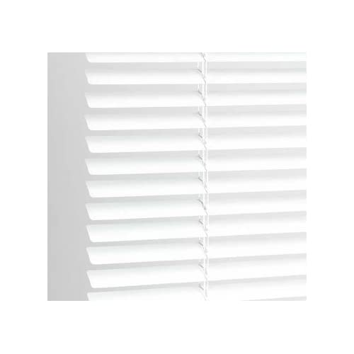 High Quality Classic Easy Fit 25mm PVC Venetian Blind, 90cm x 152cm- White, 10 Sizes Available