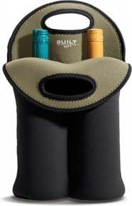 Built Neoprene 2-Bottle Wine Tote, Black