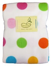 Beansprout Printed Dot Crib Blanket Blue front-1054888