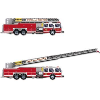 Beistle Fire Truck with Jointed Ladder, 5-Feet