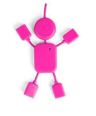USB Hubman Pink