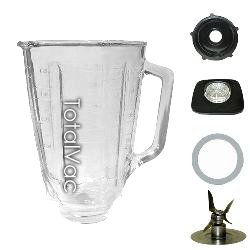 Oster Blender Glass Jar, Lid, Gasket, Cutter & Nut (Oster Replacement Glass Blender compare prices)