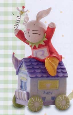 Rue Rabbit Baby Birthday Train Figurine
