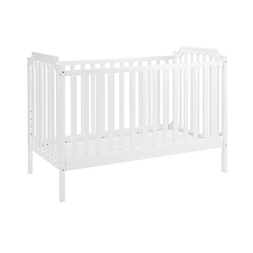 Dorel Asia The Willow Convertible 2-in-1 Crib to Toddler Bed, White - 1