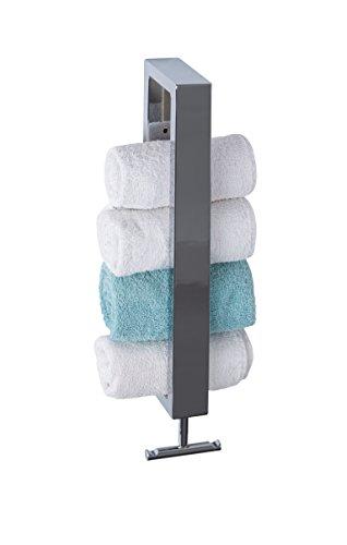 Moderner-Chrom-Handtuchhalter-mit-extra-Handtuchhaken-Designer-Wandhalter-Handtuchhalter-fr-Ihr-Gste-WC