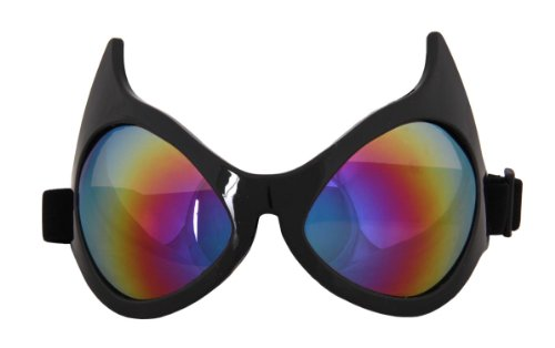 Cat Eye Costume Goggles Adult: Rainbow Lens