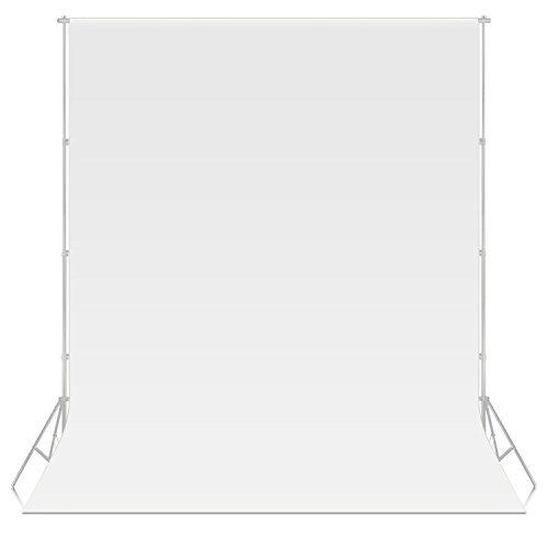 Neewerr® 1.6x3.2M Non-Tissés Tissu Toile de Fond pour Photo Studio Portrait Photographie Tournage Vidéo (blanc)