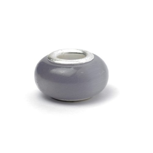 Lilac Glass Cats Eye Charm Bead - P081