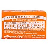 Dr. Bronner's Organic Pure Castile Tea Tree Soap , 5 oz - 2 Bars