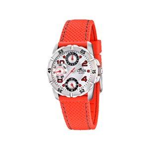 Lotus 15705/3 - Reloj analógico infantil de cuarzo con correa de plástico roja - sumergible a 50 metros