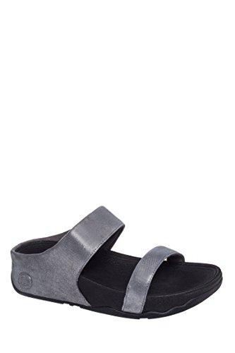 Lulu Shimmersuede Slide Comfort Sandal