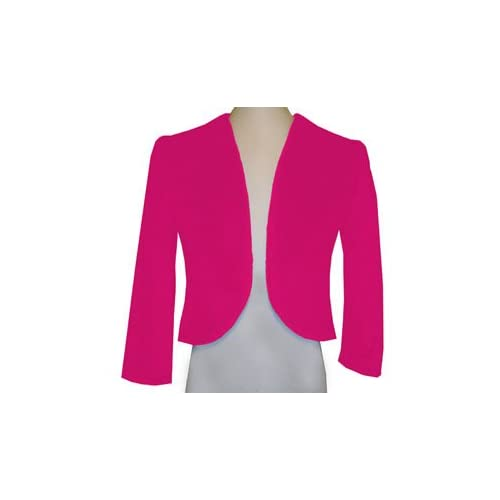 Amazon.com: Hot Pink Minky Plush Fur Bolero 7/8