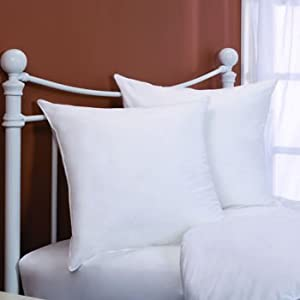 Two - 400 Thread Count - 26 x 26 Square-Down Alternative - Euro Pillow