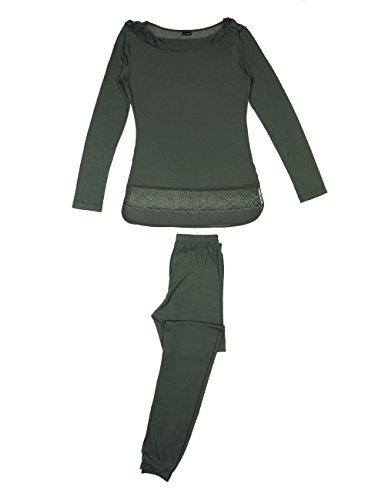 Lovable 9L04AO, Pigiama Donna, Verde (Salvia), Large (Taglia Produttore:4)